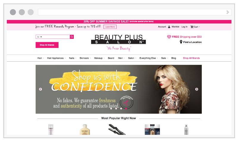 Speed and Performance Optimization for BeautyPlusSalon.com